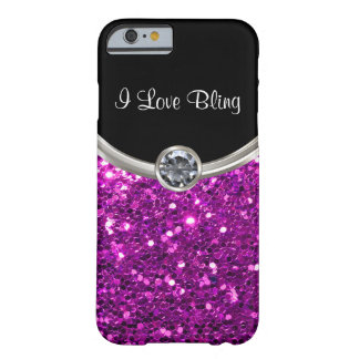 Paarse Stijl Bling Barely There iPhone 6 Hoesje