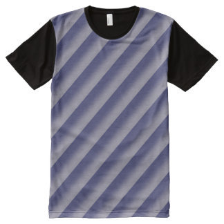 Paarse Strepen All-Over-Print T-shirt