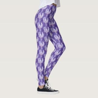 Paarse van de ultraviolette het patroonbeenkappen leggings