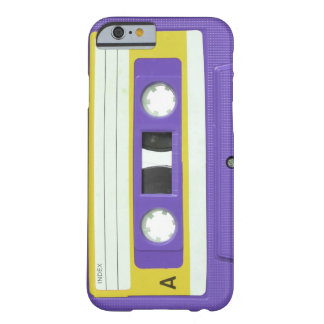 Paarse Vintage Retro AudioCassette Barely There iPhone 6 Hoesje