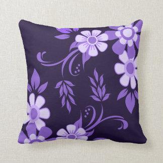 Paarse Violette Bloemen Sierkussen