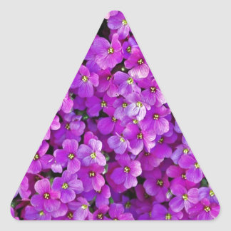 Paarse violette bloemenachtergrond stickers