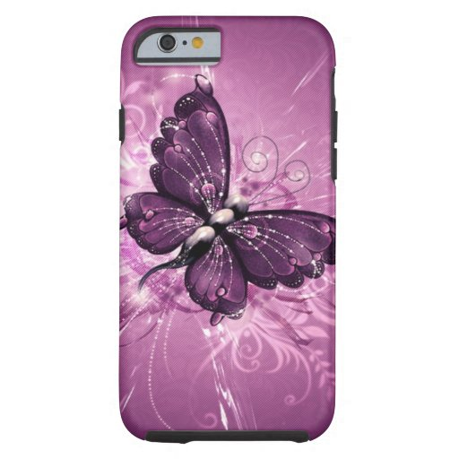 paarse vlinder vectorart. tough iPhone 6 hoesje