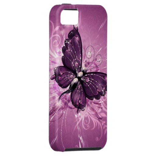 paarse vlinder vectorart. iPhone 5 cover
