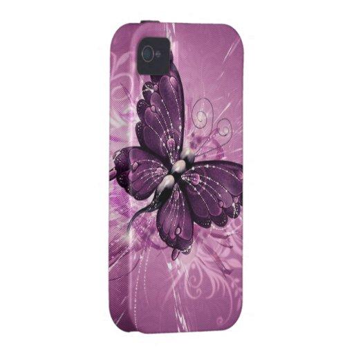 paarse vlinder vectorart. iPhone 4/4S hoesje