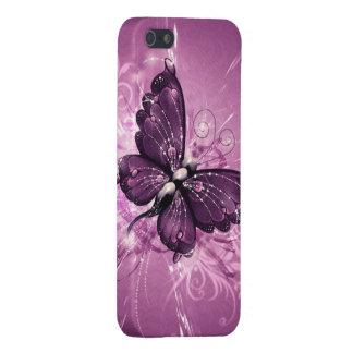 paarse vlinder vectorart. iPhone 5 hoesje