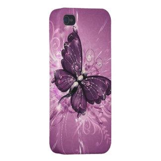 paarse vlinder vectorart. iPhone 4 hoesje