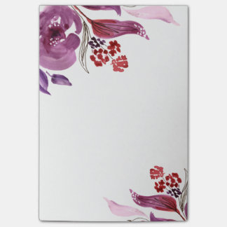 Paarse waterverf + De roze BloemenNota's van de Post-it® Notes