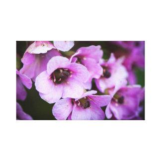 Paarse wildflowers canvas afdrukken