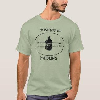 Paddelt eerder de T-shirt van de Kajak