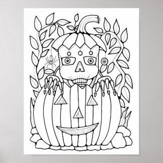 Pagina van Cardstock van het Skelet van de Poster