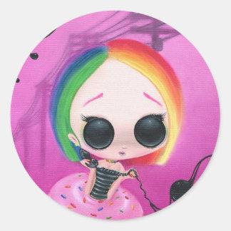 Paginerende M. Rainbow Ronde Sticker