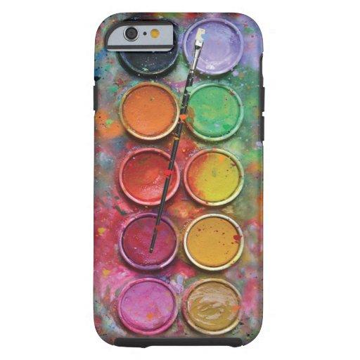 Paintbox van de waterverf tough iPhone 6 hoesje