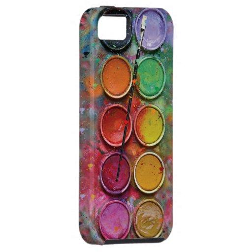 Paintbox van de waterverf iPhone 5 case