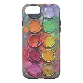 Paintbox van de waterverf iPhone 7 hoesje