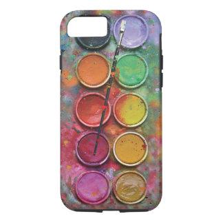 Paintbox van de waterverf iPhone 7 hoesje
