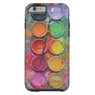 Paintbox van de waterverf tough iPhone 6 hoesje