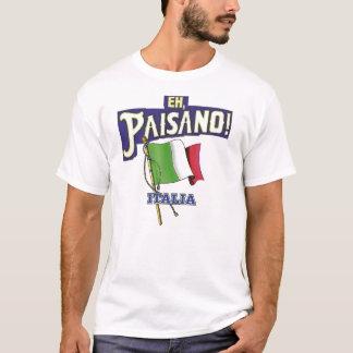 Paisano met Italiaanse Vlag T Shirt