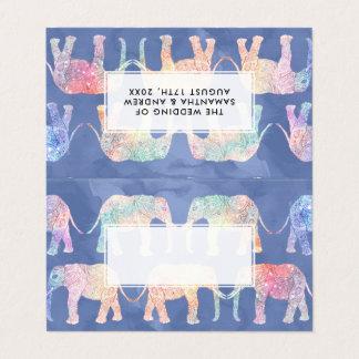 Paisley van Boho hand getrokken Plaatskaart