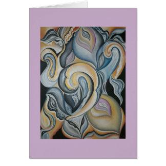 Paisley van de pastelkleur abstracte kunst briefkaarten 0