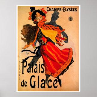 Palais DE Glace 1896 Wijnoogst ~ Poster