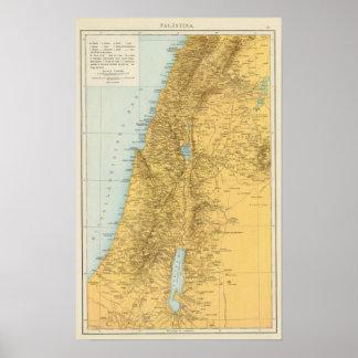 Palastina - de Kaart van de Atlas van Palestina Poster