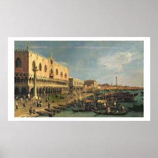 Palazzo Ducale en Riva degli Schiavoni, Venic Poster