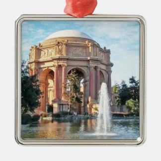 Paleis van Beeldende kunsten - San Francisco Zilverkleurig Vierkant Ornament