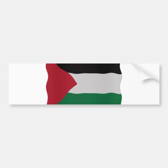 Palestinian flag bumpersticker