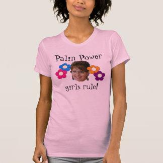 palin macht met bloemen t shirt