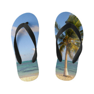 Palm en Strand Kinder Teenslippers