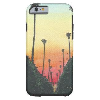 Palm Gevoerde Straat bij Zonsondergang Tough iPhone 6 Hoesje