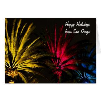 Palm met het Gelukkige Vakantie van Kerstmis van Kaart