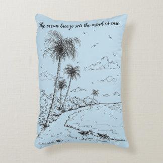 Palmen en het Leven van het Strand van de Decoratief Kussen