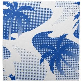 Palmen met abstract water katoenen servet