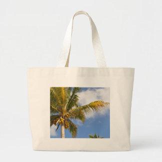 palmen op het strand grote draagtas