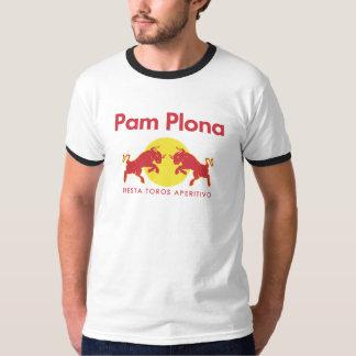 Pamplona parodiëert Red Bull T Shirt
