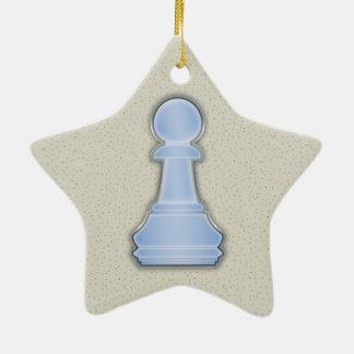 Pand van het Schaak van het Glas van het schaak Keramisch Ster Ornament