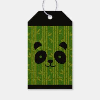 panda bamboe cadeaulabel