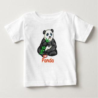 Panda die riet eten baby t shirts