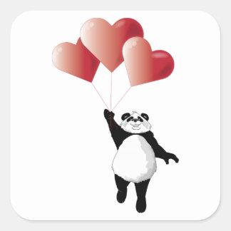 Panda en de Sticker van Ballons