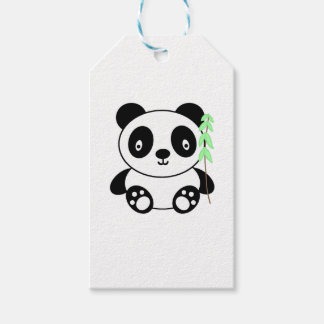 Panda met Bamboe Cadeaulabel