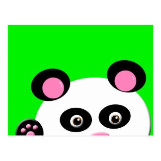 Panda met Groene Achtergrond Briefkaart