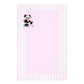 Panda met lolly briefpapier