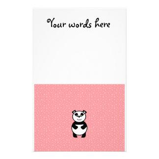 Panda met roze pootachtergrond briefpapier
