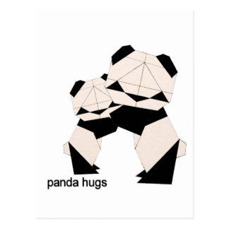 panda omhelzingen briefkaart