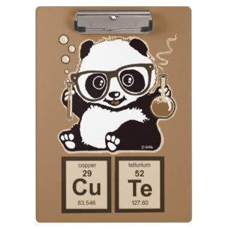 Panda van de chemie ontdekte leuk klembord
