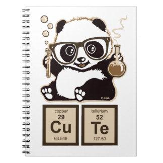 Panda van de chemie ontdekte leuk ringband notitie boeken