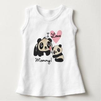 Panda's I de Mama van de Liefde Baby Jurk
