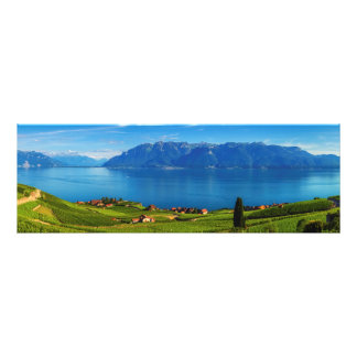 Panorama op Lavaux gebied, Vaud, Zwitserland Foto